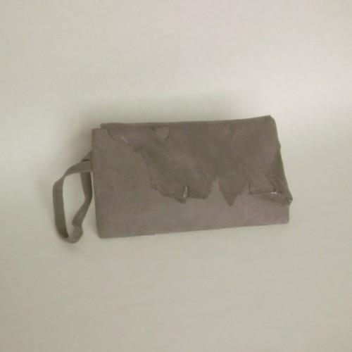 Pochette en daim gris - Genève