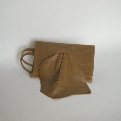 Pochette en cuir brun - Nyon