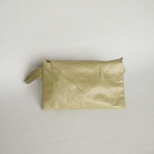 Pochette en cuir menthe à rabat