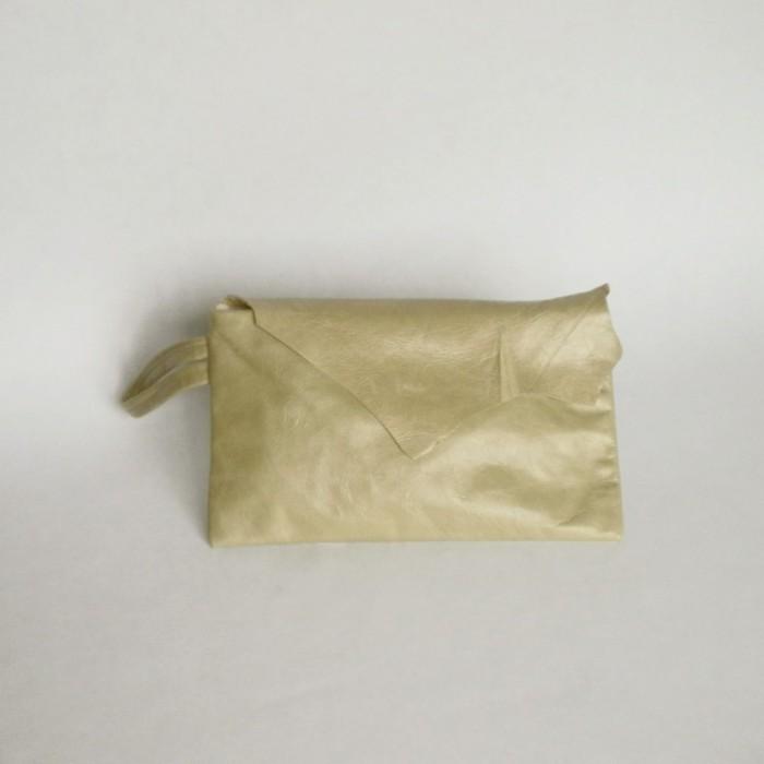 Pochette en cuir menthe - Nyon