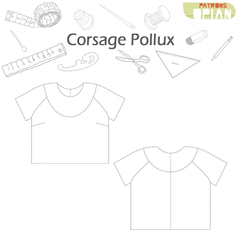 Pollux sewing pattern to make a trendy blouse