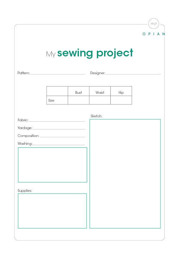 FREE download: My sewing project cheat sheet