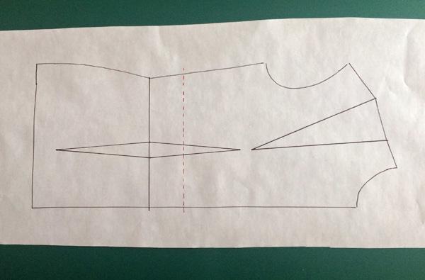 Shorten a bodice pattern