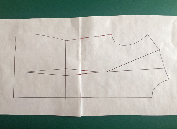 How to shorten a bodice pattern
