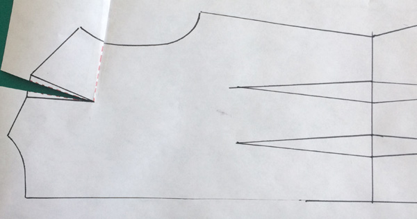 Patternmaking - How to tighten the armhole