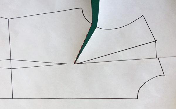 Patternmaking - How to widen the armhole