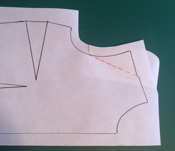 Pattern making - How to shorten the shoulder