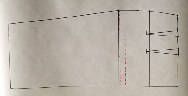 Pattern making: How to shorten the pattern of a skirt