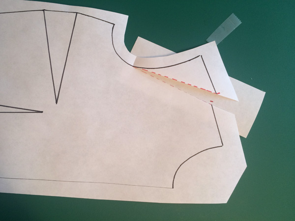 Pattern making - How to lengthen a shoulder