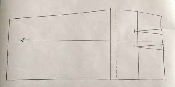 Pattern making: How to lengthen the pattern of a skirt
