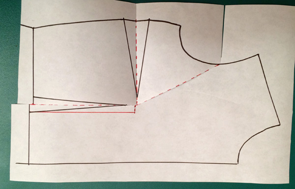 Pattern making: How to do a small bust adjustment SBA