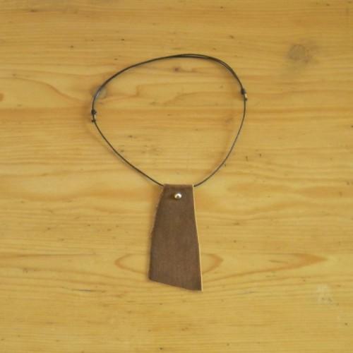 Collier cuir brun - Nyon