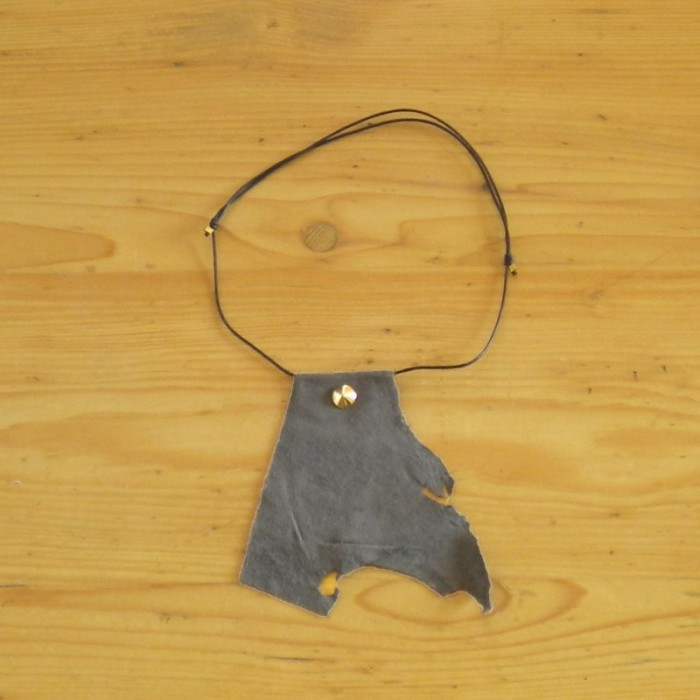 Grey suede necklace