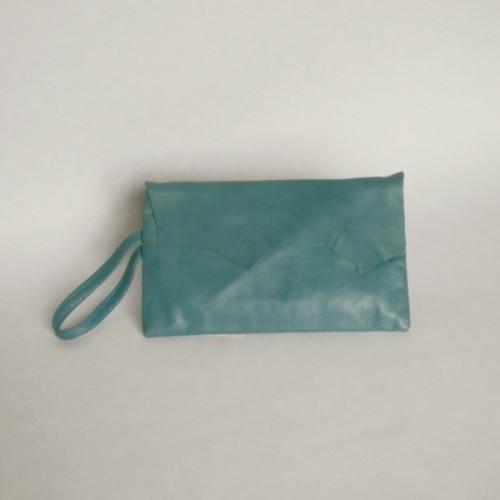 Pochette bleue en cuir - Genève