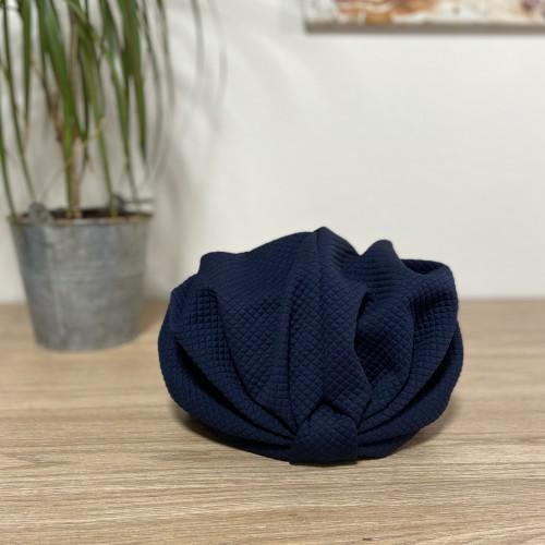Tissu Bleu Matelassé