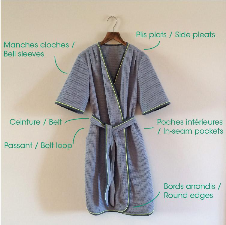 Patron de couture Hérens - Robe de chambre